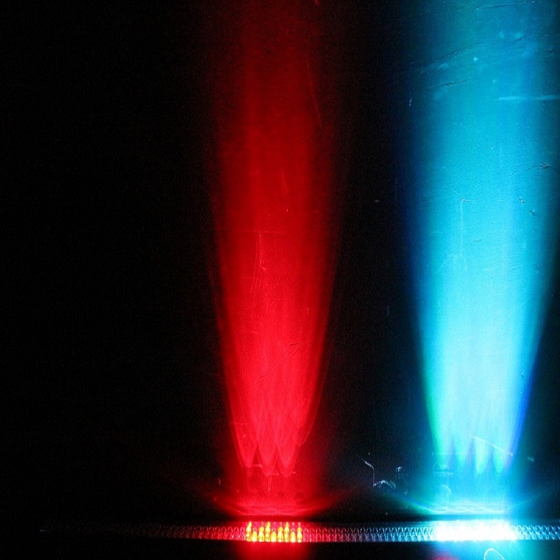 6 pçs/lote 252 10mm mini leds IP33 Lavagem Efeito Linear Bar Latas RGB color display lcd bar da arruela da parede - 6