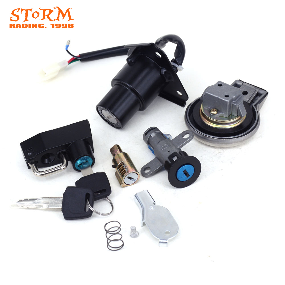 Motorcycle Ignition Switch Helmet Steering Seat Lock Key Fuel Gas Cap Set For Yamaha Virago XV125 XV250 XV 125 250 QJ250 H in Motorbike Ingition from Automobiles Motorcycles