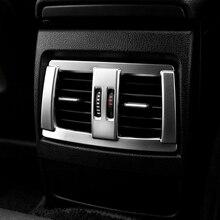 Хром Интерьер заднего сиденья вентиляционное отверстие крышки отделка украшения для BMW 3 4 серии GT F30 F34 2013-2018 автомобильный аксессуар