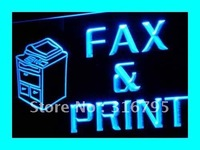 I262 OPEN Fax Print Stationery Shop LED Neon Light Sign On Off Switch 20 Colors 5