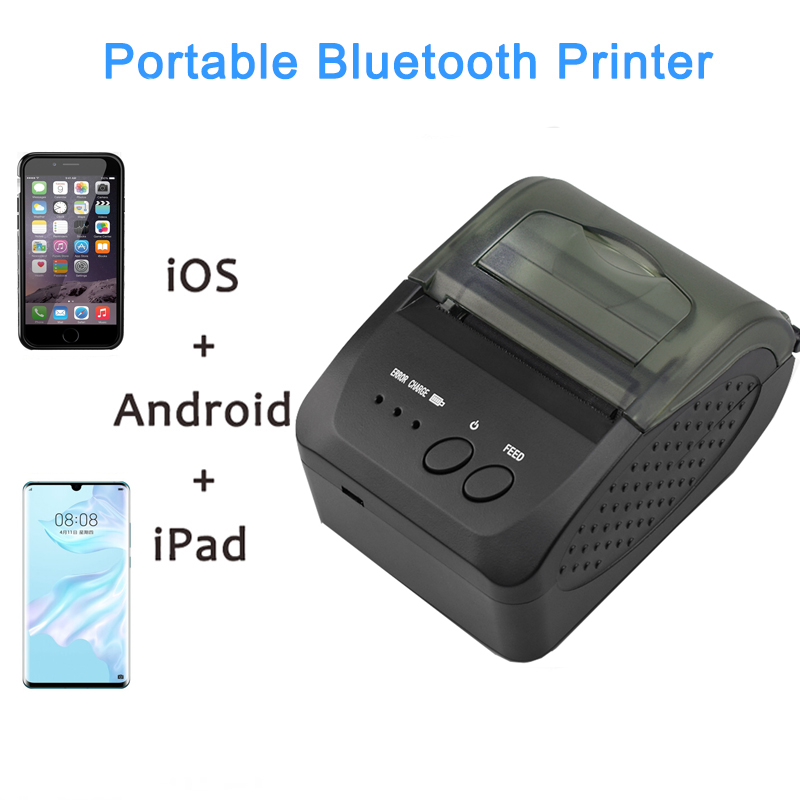 Mini Bluetooth Printer Thermal Printer Portable Receipt Machine USB Mobile Phone For Android IOS 58mm
