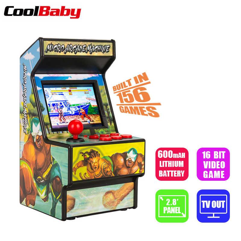 רטרו מיני ארקייד כף יד משחק קונסולת 16 קצת משחק נגן מובנה 156 משחקים קלאסיים לילדים מתנת צעצוע