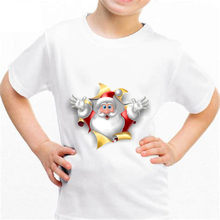 NEW Santa Claus b014 Kingdom Funny T-shirt Kids Baby Summer Cute Clothes Boys Girls Tops Santa Claus T shirt(China)