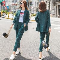 Fashion corduroy suit suit female early autumn New fashion suit jacket + pants two piece suit women