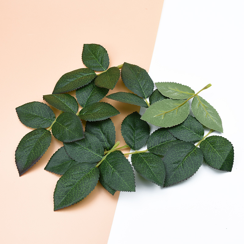 10 Pieces Artificial Plants Decorative Flowers Wreaths Christmas Decor For Home Wedding Silk Green Leaf Diy Gifts Fake Leaves