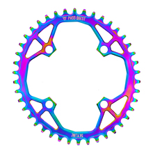 PASS QUEST 104BCD MTB Oval Titanium-plated Narrow Wide Chainring 34T-48T Bike Bicycle Chainwheel/Chain Wheel deore Crankset fouriers bicycle mountain bike mtb oval crankset chainring chainwheel 34t 48t aluminum bcd104 gear