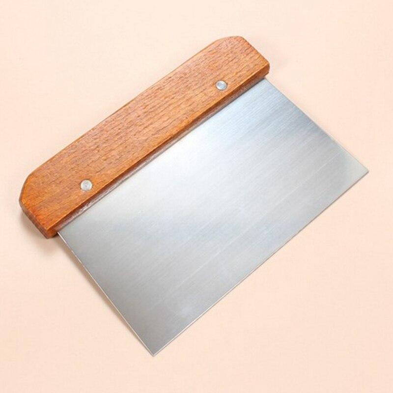 Inox Pâte à Pizza Cutter Grattoir de cuisson pâtisserie spatule décoration outil d