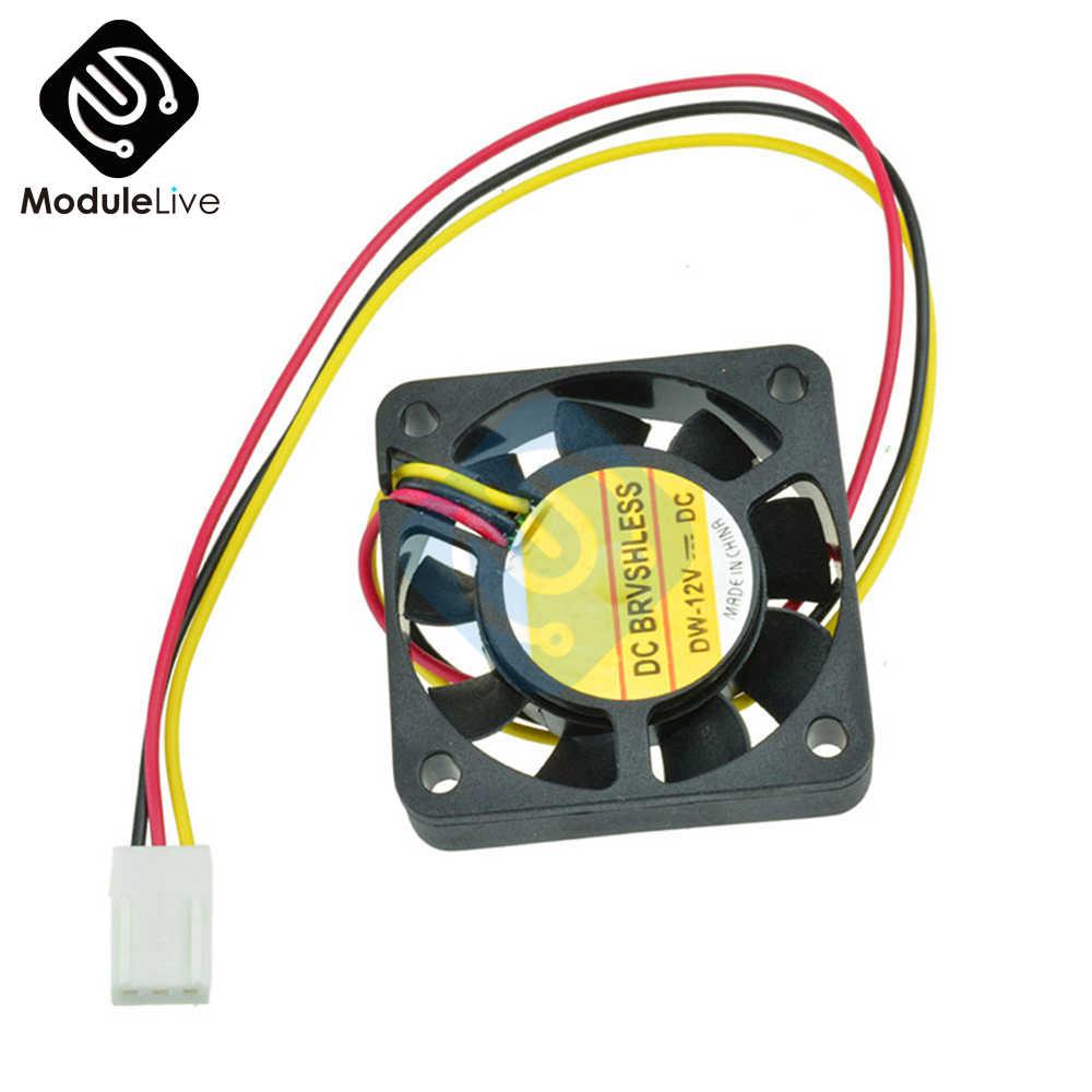 Вентилятор для корпуса компьютера 3Pin 12 V 4 см 40 мм ПК охлаждающий вентилятор черный радиатор маленький охлаждающий вентилятор ПК
