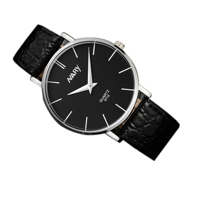 Waterproof Men Slim Big Dial Business Sport Leather Quartz Wrist Watch 17Aug25