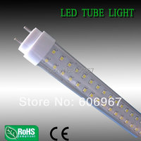 Free Shipping 60cm 10w T8 Led Fluorescent Tube 2 Ft 600mm SMD3528 25pcs Lot Clear Cover