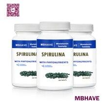 Большая сделка,, MBHAVE, 3 бутылки, Органические Спирулина, естественное загрязнение, 250 мг, всего 900 шт