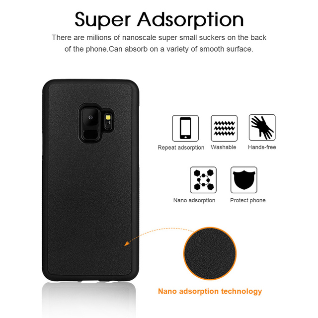 Anti Gravity Phone Case For Samsung S9 S8 S7 S6 S5 Edge Plus Note 8 7 5 4 For iPhone X 8 7 6S 6 Plus