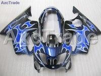 Carrocería Carenados de Moto Para Honda FIT CBR600RR CBR600 CBR 600 F4 1999 2000 99 00 kit de Carenado ABS de Alta Calidad De Plástico Azul C266