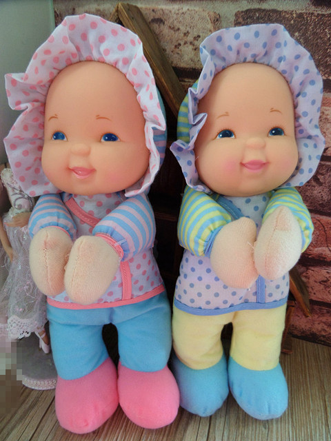 Free Shipping Original Soft Stuff Appease Accompany Sleep Cute Dot Vinyl Doll Plush Toy Birthday Girl