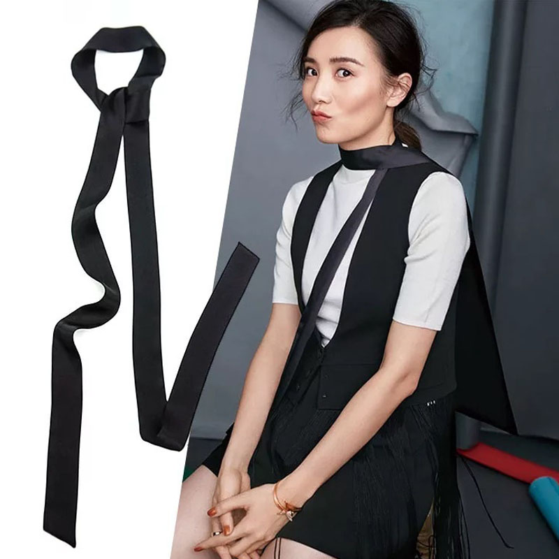 Fashion silk scarf female small cravat belt all-match scarf bandeaus slitless bags belt bandanas decoration wholesale
