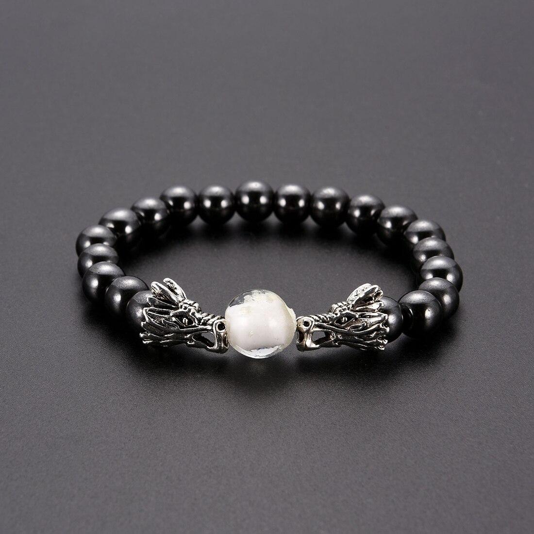 Fashion Beaded Bracelet Natural Lava Stone Hematite Charms Natural Stone Bracelets Black Beads Owl Bracelets