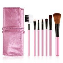 7PC Multipurpose Cosmetic Brushes Set Blush Foundation Eyebrow Eye Shadow Liner Lip Contour Concealer Powder Makeup Brush Kit-30
