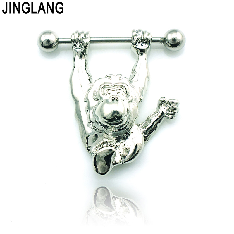Fashion Classic Nipple Rings Stainless Steel Barbell -6361