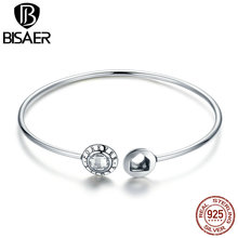 100% 925 Sterling Silver Signature Family Forever Cuff Bangles & Bracelets for Women Authentic Silver Jewelry Original Pulseira
