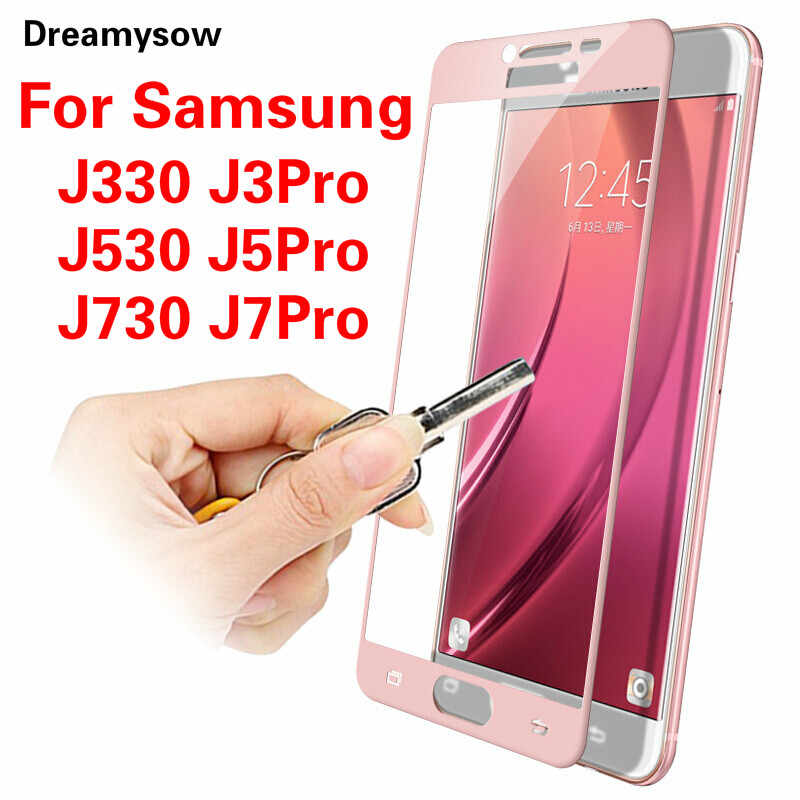 2.5D Full Cover Toughened Tempered Glass for Samsung Galaxy A750 2018 J7 2017 J730 J7Pro J3 2017 J330 J3pro J5 2017 J530 J5Pro