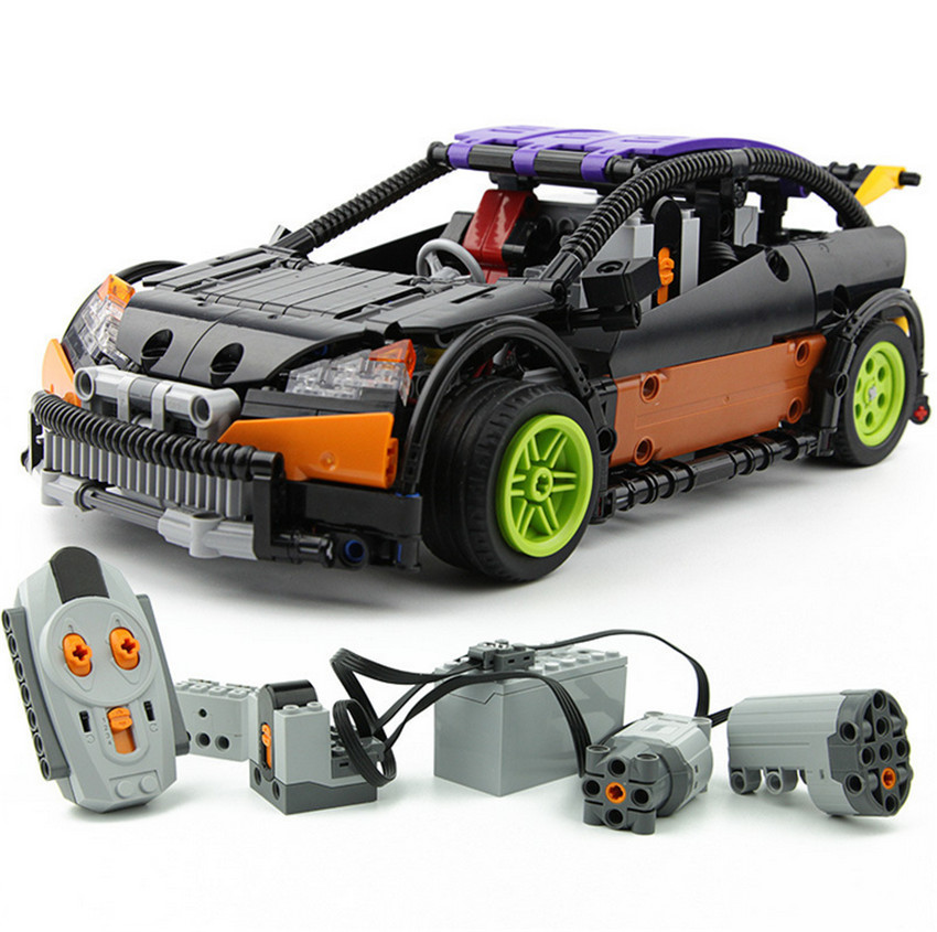 640pcs Technic Series Hatchback Type RC Car MOC-6604 Building Block Children Remote Control Car Educational Brick technican technic 2 4ghz radio remote control flatbed trailer moc building block truck model brick educational rc toy with light