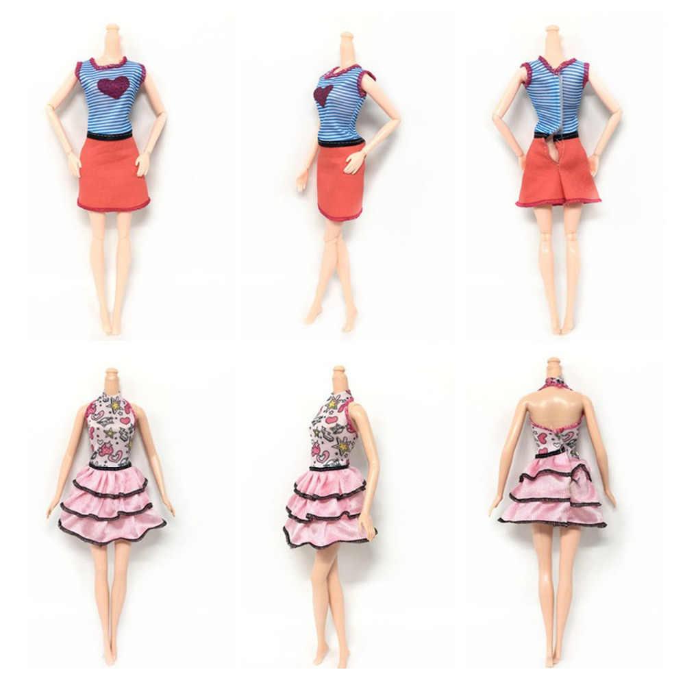 8 pçs menina boneca brinquedo verão vestidos de moda vestido roupas + 55 peças roupas playing bonecas acessórios kits para barbie brinquedos