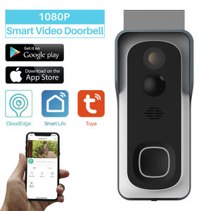 Image 1 - WiFi Akıllı Video Kapı Zili Kamera Ev Güvenlik Monitör Gece Görüş Video Interkom SmartLife APP Kumanda Üzerinden iOS Android Telefon