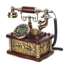 Ретро Телефон украшения дома подарки вилла место удача поделки из резины бизнес подарки винтажный телефон