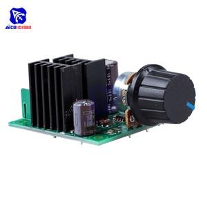 Image 4 - Diymore dc 12  40 v 10A pwm dc モータ速度制御スイッチコントローラモジュール電圧レギュレータ調光器/w ヒューズロータリーポテンショメータ