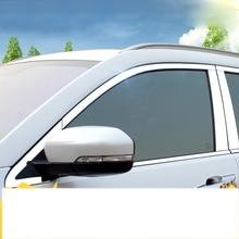 lsrtw2017 stainless steel car window decoration chrome trims for changan cs75 cs35 2012-2019