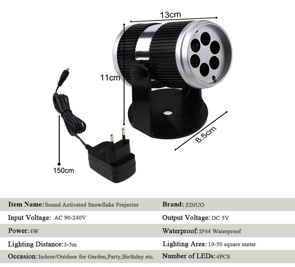 ᗐZinuo Navidad Proyector láser sonido activado movimiento dinámico ...