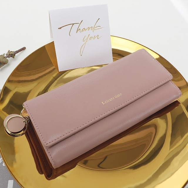 portefeuille femme cuir rose