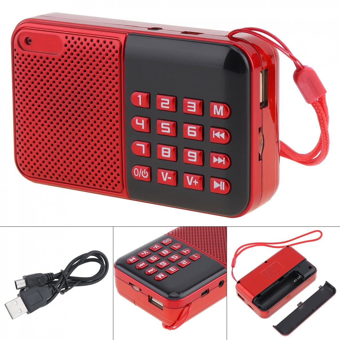 Tragbares Audio & Video Radio Billiger Preis E16 Tragbare Mp3 Player Mini Audio Karte Lautsprecher Fm Radio Mit 3,5mm Kopfhörer Jack Für Home/outdoor
