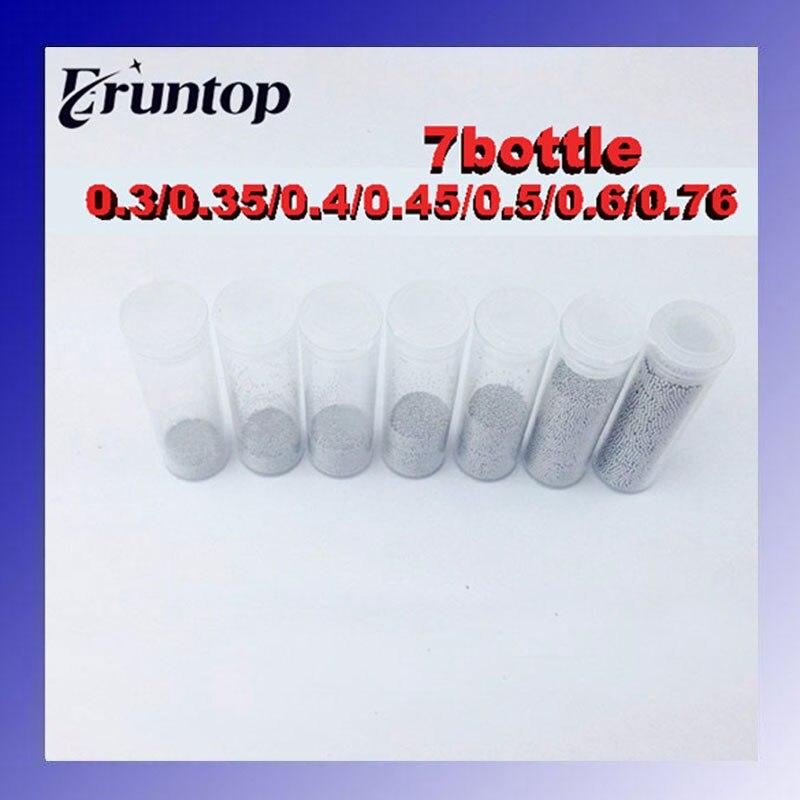 High Quality 7 Bottle 25K 25,000 pcs Solder Ball Leaded (0.25,0.3,0.35,0.4,0.45,0.5,0.55,0.6,0.76mm) eyki h5018 high quality leak proof bottle w filter strap gray 400ml
