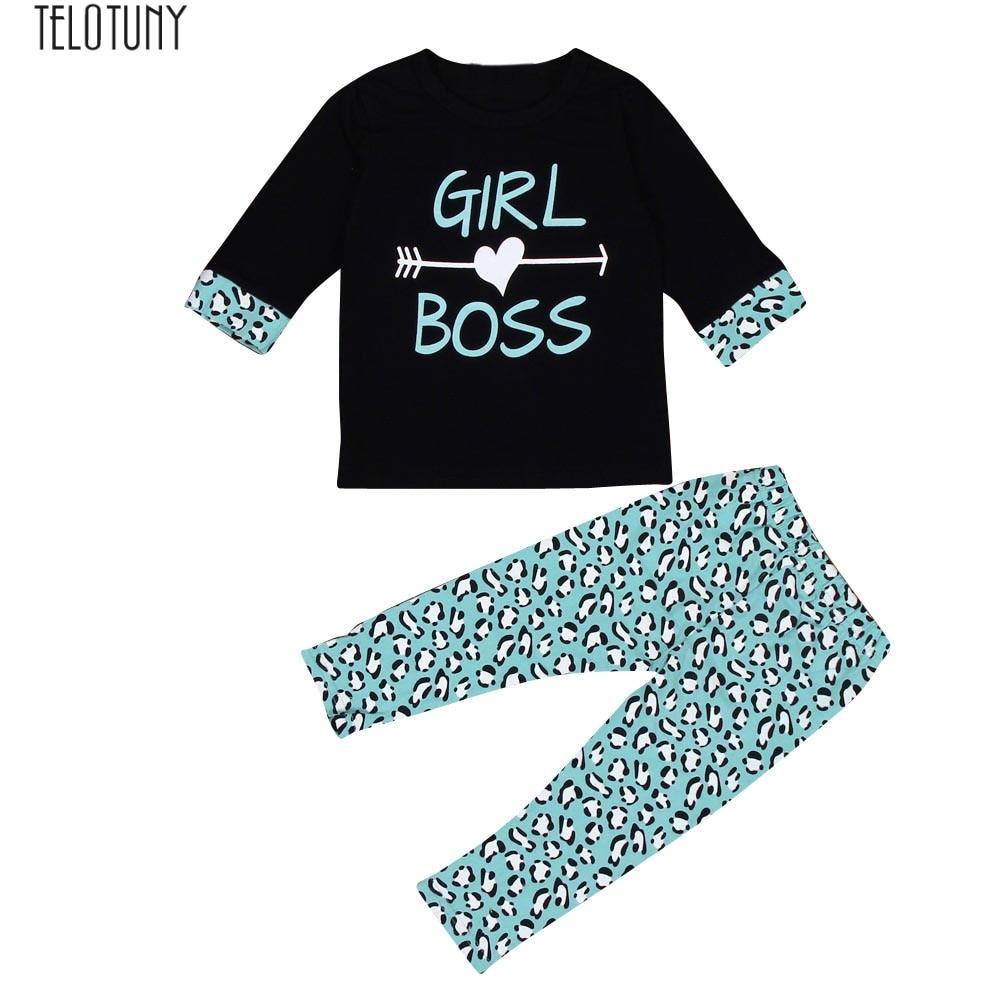 Toddler Kids Baby Girls Outfits Clothes T-shirt Tops Dress+Long Pants 2PCS Sets