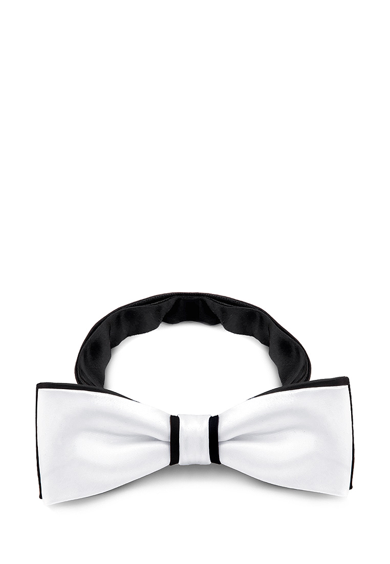 [Available from 10.11] Bow tie male GREG Greg poly 19 white + is black rea 1 140 White white and black stripe self tie front blouse