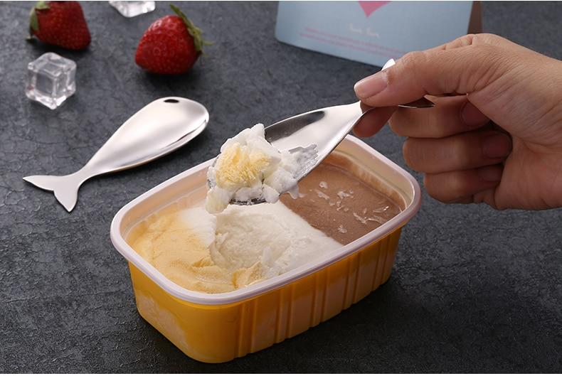 20pcs Creative 304 stainless MINI steel ice cream scoop watermelon fashion fruit serving spoon