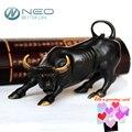 """Neo 11.5 cm (4.5 """") de bronce de wall street bull ox bull estatua feng shui figurita de carga del mercado de valores home office decor"""