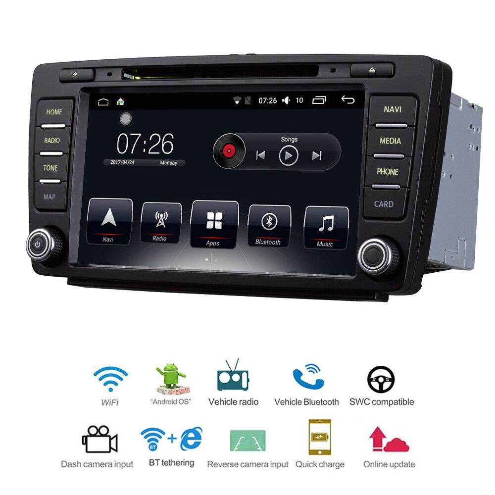 Voiture Multimédia lecteur 2 Din Android 7.1 DVD De Voiture Pour VW/Volkswagen Skoda Octavia Skoda Yeti 8