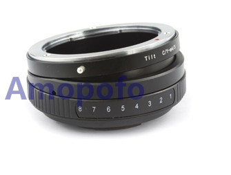 Amopofo CY-M4/3 Tilt Lens Adapter Contax Yashica Lens to Micro Four - Camera and Photo