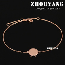 Top Quality ZYA018 Simple Style 'First Love' Rose Gold Color Anklets Jewelry Austrian Crystals Wholesale