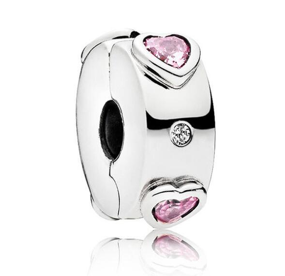 925 Sterling Silver Bead Charm Explosion of Love With Crystal Clip Lock Stopper Beads Fit Pandora Bracelet & Necklace Jewelry925 Sterling Silver Bead Charm Explosion of Love With Crystal Clip Lock Stopper Beads Fit Pandora Bracelet & Necklace Jewelry