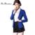 Rebantwa Blazer feminino Magro Cintura Blazer Mulheres Jaqueta Curta Único Ferrolho Preto Azul Trabalho Desgaste Do Escritório Mulheres Blazers E Jaquetas