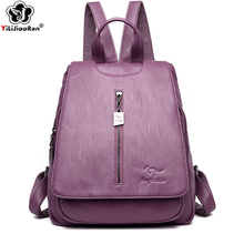 Fashion Women Backpack Famous Brand Leather Backpack Female Large Capacity School Bags Bookbag Ladies Travel Backpacks Mochila famous brand england style women backpack natural cowhide ladies daypack backpacks travel bags genuine leather back pack w09770