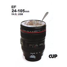 Coffee Cup 24-105mm 1:1 Camera Lens Cup Generation 6 for Camera Emulation Outdoor Travel Coffee Cups