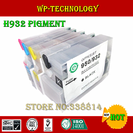 ФОТО [Full pigment] Refillable ink cartridge suit for HP932 HP933, suit for HP6100 660 6700 printer, etc , With ARC chip