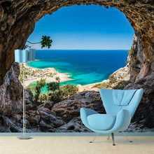 Creative Custom Mural Paintting Wallpapers Modern Minimalist Cave Natural Scenery Murales  Living Room Home Decor YBZ058