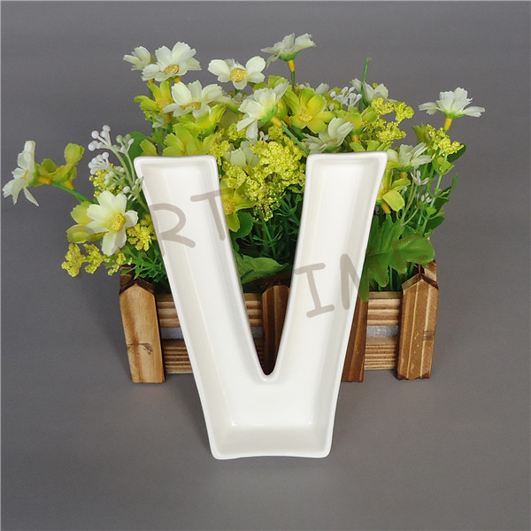 aliexpresscom buy love wedding dish ceramic letter v shape dessert dish from reliable dish rack stainless steel suppliers on partytime