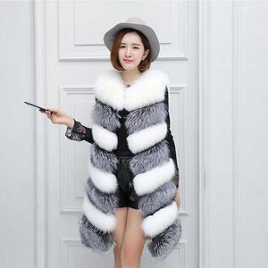 581137ce662e haisum in imitation fur vest female fox fur Slim suede
