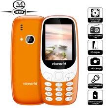 """D'origine VKworld Z3310 Russe Clavier Aîné Mobile Téléphone 2.4 """"1450 mAh Batterie Big Haut-Parleur 2.0MP FM Sans Fil Mini Cellulaire téléphone"""